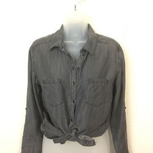 C&C California Gray Chambray Tercel Button Up S